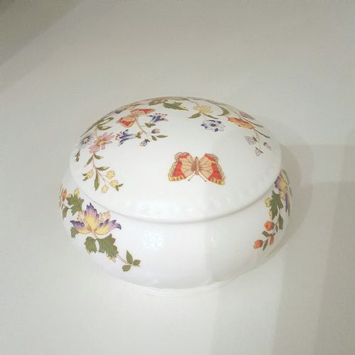 Aynsley Cottage Garden Sovereign Covered Trinket Box
